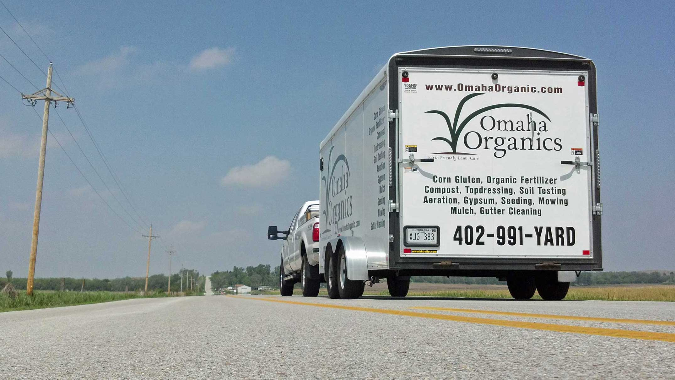 Omaha Organics truck and Trailer